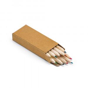 Piórnik z 10 kolorowymi kredkami