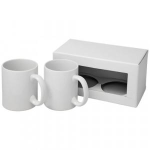 2-częściowy zestaw upominkowy Ceramic składający się z kubków z nadrukiem sublimacyjnym