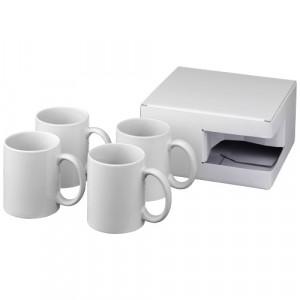 4-częściowy zestaw upominkowy Ceramic składający się z kubków z nadrukiem sublimacyjnym