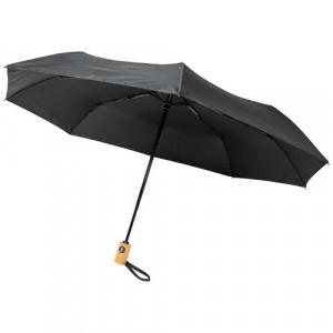"""Składany, automatycznie otwierany/zamykany parasol Bo 21"""" wykonany z plastiku PET z recyklingu"""
