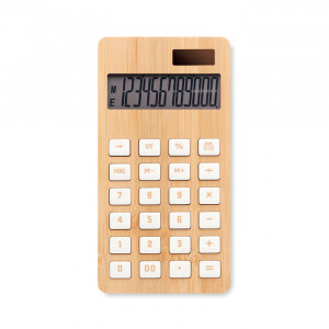 CALCUBIM - 12-cyfrowy kalkulator, bambus