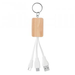CLAUER - Bambusowy kabel 3 w 1