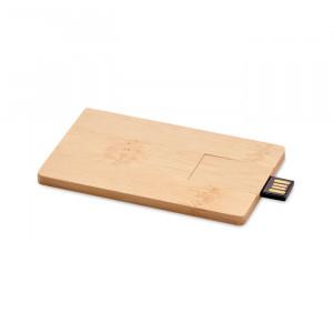CREDITCARD PLUS - 16GB USB: bambusowa obudowa    MO1203-40
