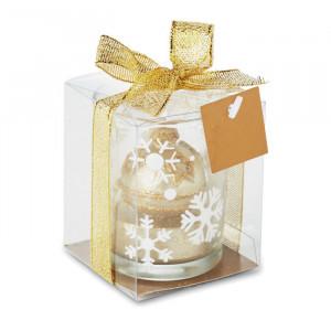 GLITTERIE - Szklany świecznik tea light