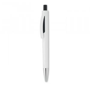 LUCERNE WHITE - Przyciskany długopis w białej