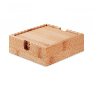 MENDI - Zestaw 4 podstawek z bambusa