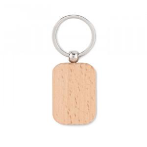 POTY WOOD - Prostokątny drewniany brelok