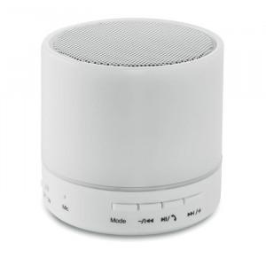 ROUND WHITE - Okrągły głośnik bluetooth LED