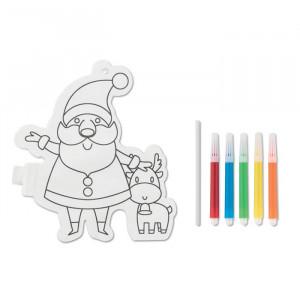 SANTABALL - Balon Mikołaj do kolorowania