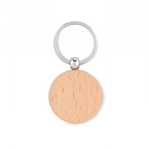 TOTY WOOD - Okrągły drewniany brelok