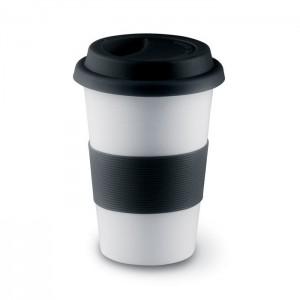 TRIBECA - Ceramiczny kubek z przykrywką