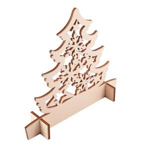 Drewniana wycinanka choinka Christmas tree