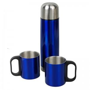 Metalowy termos Picnic 480 ml + 2 kubki
