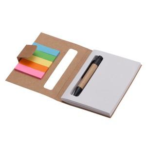 Notes 80x110/100k gładki Eco z długopisem