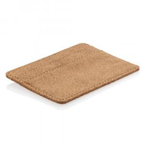 Ekologiczne, korkowe etui na karty kredytowe, portfel, ochrona RFID