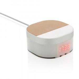 Ładowarka bezprzewodowa 5W Aria, zegar cyfrowy