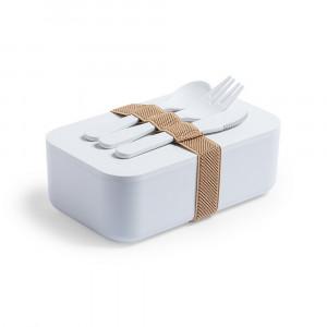 Pudełko śniadaniowe 1 L z PLA, sztućce