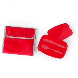 Torba termoizolacyjna, pudełko śniadaniowe 1 l, sztućce