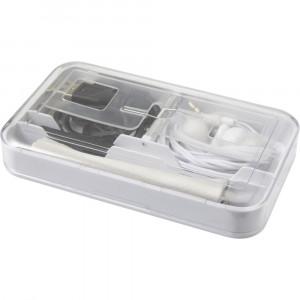 Touch pen, ściereczka, kabel USB, słuchawki douszne