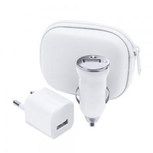 Zestaw do ładowania, ładowarka USB i ładowarka samochodowa USB