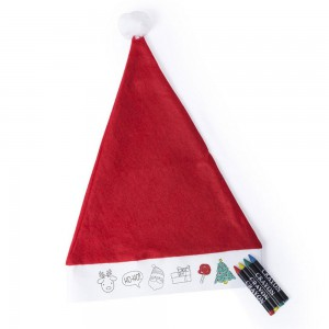 Zestaw do rysowania, czapka świąteczna