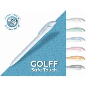 Golff SafeTouch długopis plastikowy, antybakteryjny,