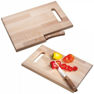 Deska do krojenia drewniana z nożem LIZZANO