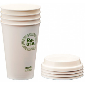 KUBEK ALADDIN RE-USE CUP & LID 0,35 L (4-PAK)