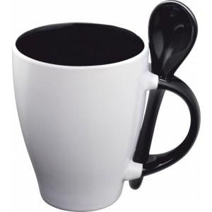 Kubek ceramiczny z łyżeczką RISLEY 250 ml