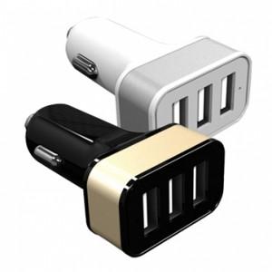 Super szybka ładowarka samochodowa z 3 wejściami USB