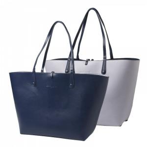 Torba na zakupy Tourbillon Reversible Bleu-Lilas
