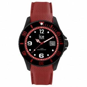 Zegarek z datownikiem ICE steel-Black red-Large