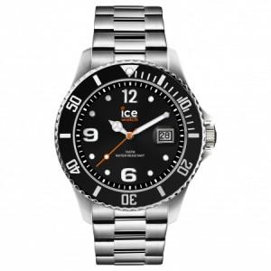 Zegarek z datownikiem ICE steel-Black silver-Large (L)