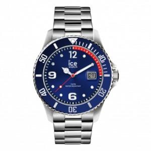 Zegarek z datownikiem ICE steel-Blue silver-Medium