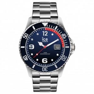 Zegarek z datownikiem ICE steel-Marine silver-Large (L)