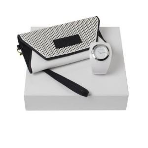 Zestaw CPLM476 - portmonetka CEL402 `Naïades Perle` + zegarek CMN476 `Naïades Porcelaine`