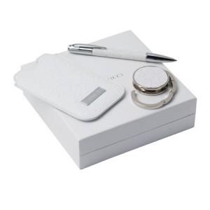 Zestaw RPBHH317 - wieszak na torebkę RAH317 `Névé` + etui na iPhone'a RLH317 `Névé` + długopis RSI3174 `Névé`